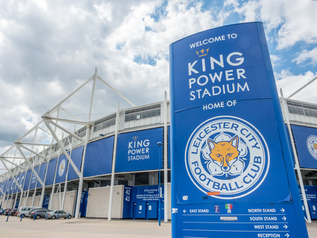 cloudy home: LEICESTER - MAY 23: King Power Stadium, home stadium of Leicester city football club, the champion premier league team seaason 2015-2016, under cloudy sky, was taken on May 23, 2016.
