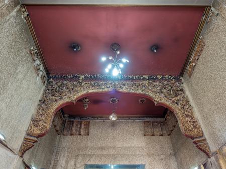 swallow bird: Swallow bird nest at angle in church of Wat Chonglom, Thailand, wierd phenomenon Editorial