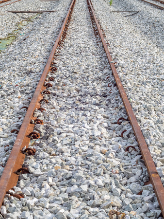 run way: Railway track parallel perspective view