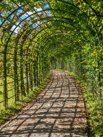 Passage in garden in Linderhof palace, Ettal, Germany