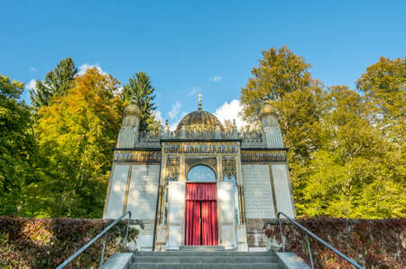 ETTAL - OCTOBER 12 : Moorish kiosk was installed in Linderhof palace by King Ludwig II in Ettal municipality, Bavaria state, Germany, on October 12, 2016.