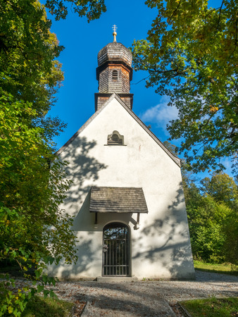 Chapel in the park in area of Linderhof palace in Ettal municipality, Bavaria state, Germany