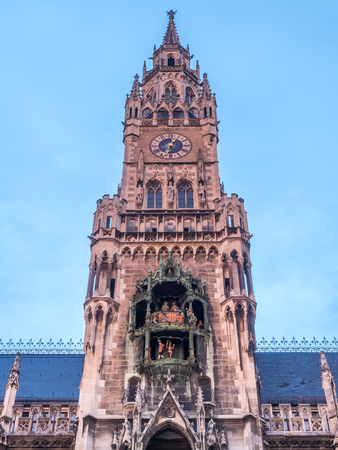 New Town Hall, known as Neues Rathaus, at Northern of Marienplatz, center of Munich, Germany