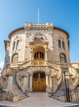 MONACO - APRIL 8 : Outstanding architecture building near Saint Nicholas cathedral in Monaco, on April 8, 2017.
