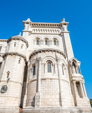 Cathedral of Our Lady of the Immaculate Conception), also known as Saint Nicholas Cathedral, landmark of Monaco Stock Photo