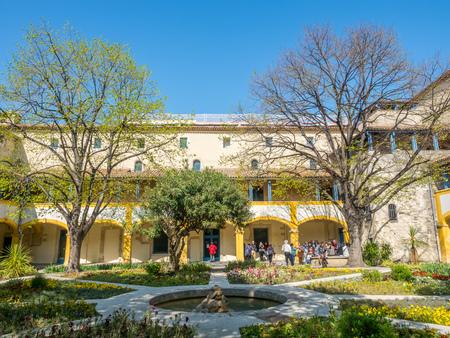 ARLES, FRANCE   APRIL 12 : Garden Of Asylum Hospital, Inspiration Place For  Painting