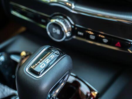 BANGKOK, THAILAND - JANUARY 1 : Gear box in luxury design in Volvo car new model in Bangkok, Thailand, on January 1, 2019. 스톡 콘텐츠 - 136920622
