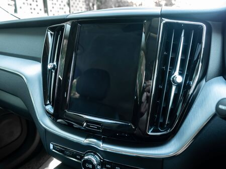BANGKOK, THAILAND - JANUARY 1 : Front air blower mask on dashboard in Volvo car new model in Bangkok, Thailand, on January 1, 2019. 스톡 콘텐츠 - 136920632