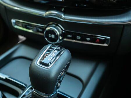 BANGKOK, THAILAND - JANUARY 1 : Gear box in luxury design in Volvo car new model in Bangkok, Thailand, on January 1, 2019. 스톡 콘텐츠 - 136920633
