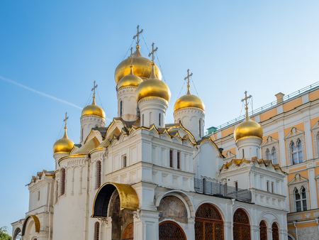 Cathedral of Annunciation in Cathedral square in Moscow Kremlin, Moscow, Russia
