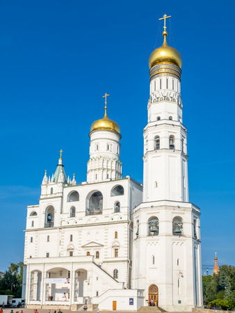 Ivan the Greats Bell tower in Cathedral square in Moscow Kremlin, Moscow, Russia