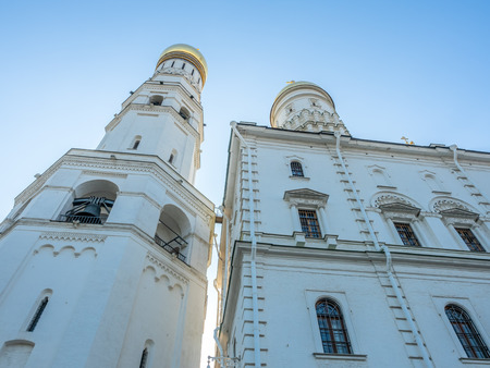 Ivan the Great's Bell tower in Cathedral square in Moscow Kremlin, Moscow, Russia 에디토리얼
