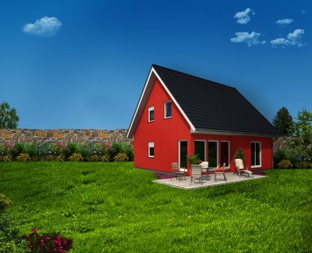 beautiful house Stock Photo