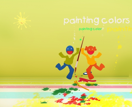 paint colorful world of children