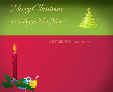 Card New Year and Merry Christmas photo