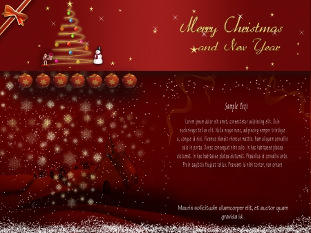Red card Merry Christmas and happy new year Stock Photo