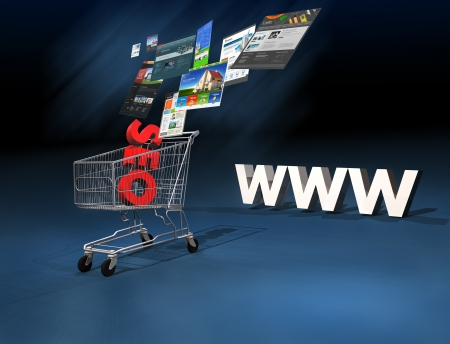 Seo for your website 3d rendering Stock Photo