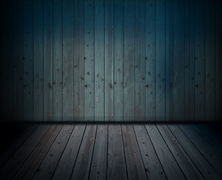 scene blue boards Stock Photo