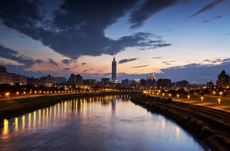 Taipei city night 写真素材