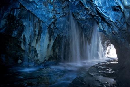 Cave waterfalls, streams 写真素材