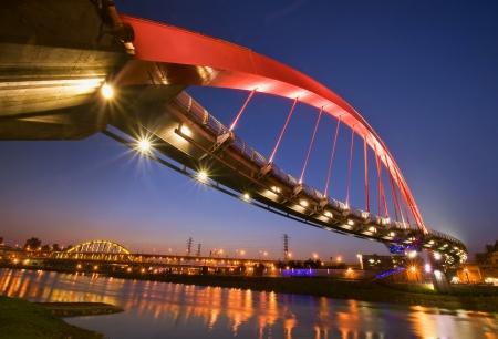 Taiwan Taipei Landmark rainbow bridge