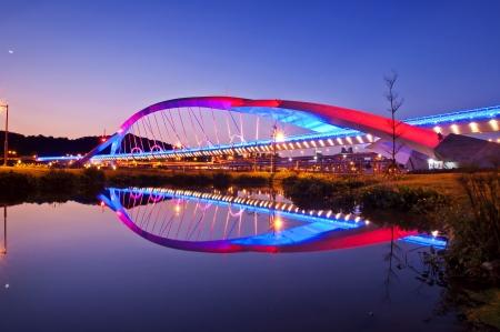 Bridge night scene in Taipei Taiwan Zdjęcie Seryjne