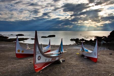 Taiwan Taitung Orchid Island Aboriginal canoe