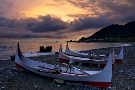 Taiwan Lanyu Aboriginal canoe