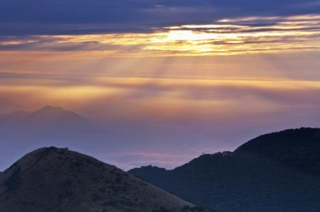 Taiwan Yangmingshan National Park sunset,Beautiful mountain views