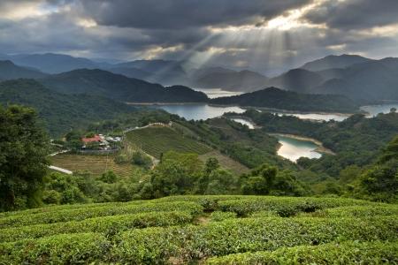 irradiate: Taiwan Taipei Beautiful mountains Sunset scenery