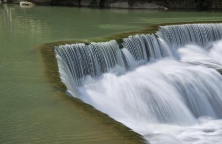 waterfall in the city: Streams waterfall in Taiwan Taipei Pingxi
