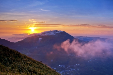 Taiwan mountains beautiful sunrise Zdjęcie Seryjne