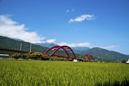 Beautiful pastoral scene in Hualien, Taiwan, photo
