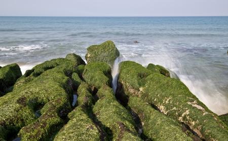 recursos naturales: Stone zanja costa de Taiwán