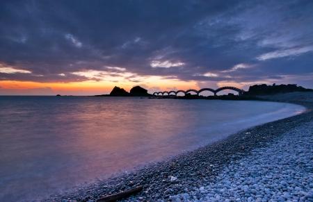 The coast beautiful sunrise in Eastern Taiwan