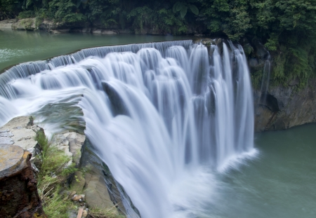 Beautiful waterfall in Taiwan photo