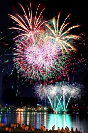Fireworks festivals in Taiwan Taipei