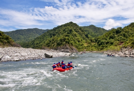 Streams boating in Taiwan Hualien