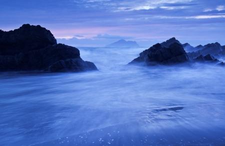 Beautiful scenery coast in Taiwan Stock Photo