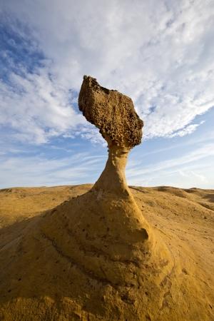 台湾野柳地質公園奇妙な岩 写真素材