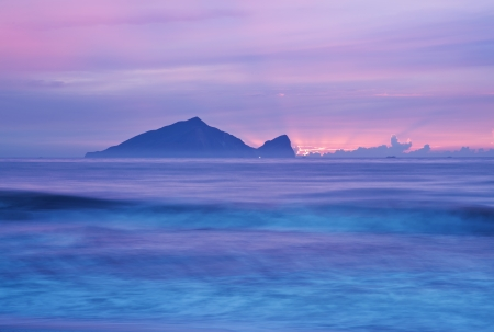Sunrise scenery beautiful coast of Taiwan