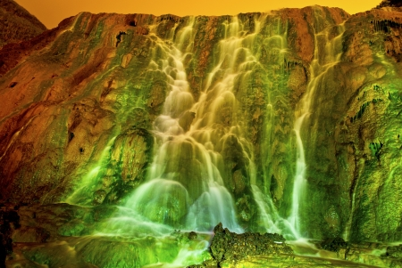 treacherous: Treacherous waterfall Stock Photo