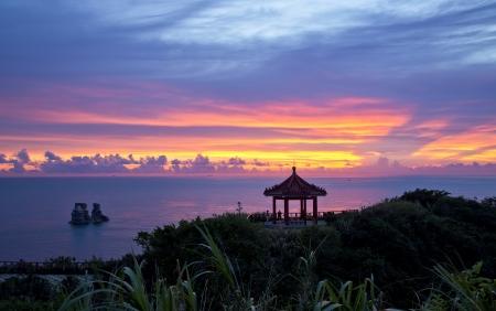 Sunrise coast of Taiwan Zdjęcie Seryjne