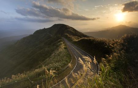 Sunset landscape in Taiwan Stock Photo