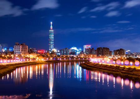Taiwan Taipei city beautiful night