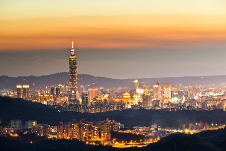 The Taipei 101 and Taipei Cityscape