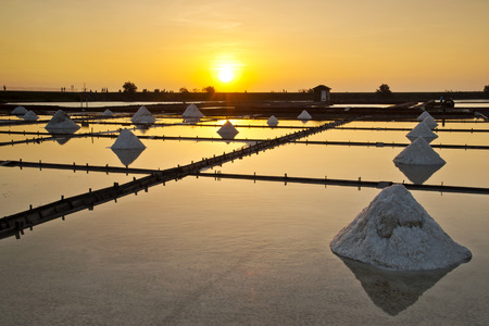 Taiwan Salt pan scenery