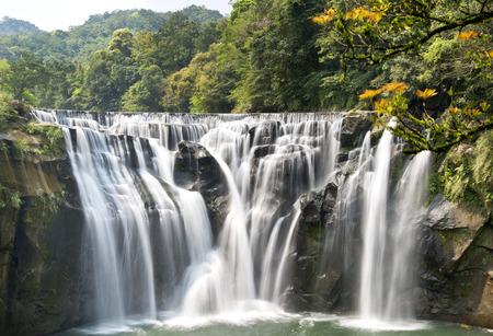 waterfall in the city: Beautiful waterfall in Taiwan