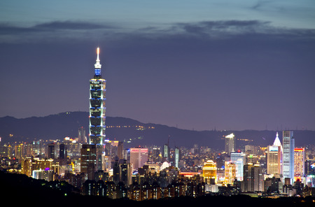 Taipei 101 night view