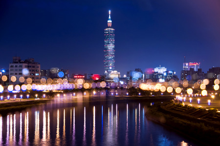 Taiwan Taipei Beautiful night view